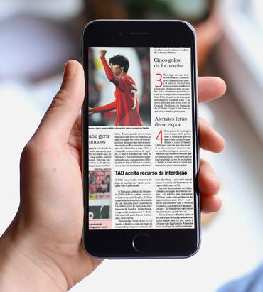 Leitura antecipada do jornal do dia